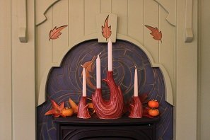 The Windrift Candle Set - Mission Red Glaze