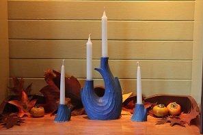 The Windrift Candle Set -  Blue-Green Glaze