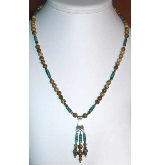 Picture Jasper & Turquoise Necklace