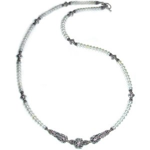 Pearl & Sterling Silver Necklace