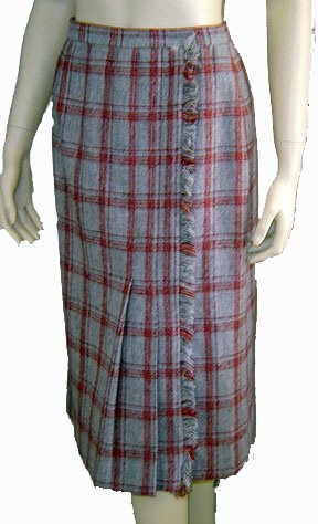 70s Lilli Ann for Adolph Shumann Faux Wrap Skirt