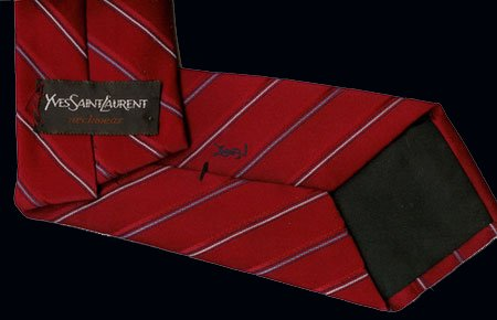YSL Yves St. Laurent Red Power Tie