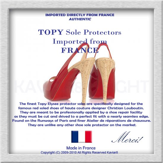TOPY France - Red Sole Protectors for Christian Louboutin PARIS