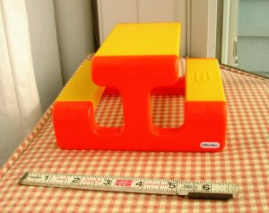 Little Tikes Dollhouse Miniature Picnic Table 6 Inches Long