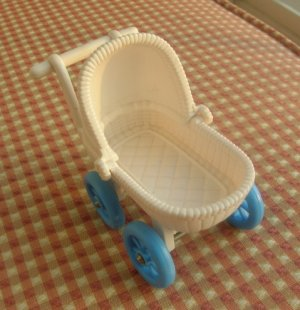 Fisher Price Loving Family Dollhouse Furniture Baby Buggy Carriage Pram