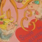 Vintage 50s Valentines Cards Cupids and Witch