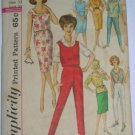 Vintage Sewing Pattern Wiggle Skirt, Pants, 60s Separates Simplicity 4401
