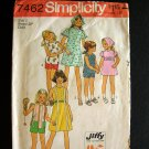 Toddler  Dress, Top, Shorts and Scarf Vintage Sewing Pattern Simplicity 7462