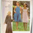 Maxi Sundress with Shawl Vintage 70s Sewing Pattern Simplicity 7332