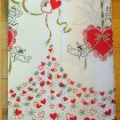 Vintage Valentines Day Hearts and Cupids Paper Tablecloth