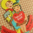 Vintage 50s Valentine Cards Lot Cowboy, Indian, Cat, 3D