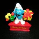 Happy Birthday Smurf PVC Smurf A Gram Schleich Peyo