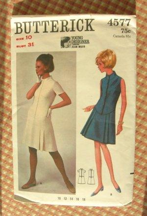Jean Muir Dress Butterick 4577 Vintage Sewing Pattern