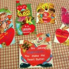 Vintage Valentine Cards Circus Animals, Clown