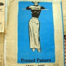 Vintage 50s Mail Order Sewing Pattern Misses Straight Skirt