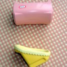 Little Tikes Dollhouse Baby Cradle and Carseat Miniature  2 1/4 Inches