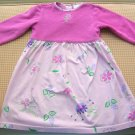 Hanna Andersson  Pink Knit Floral Dress Girls Size 100 Hannah Anderson