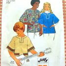 Simplicity 6864 African Inspired Top Vintage 70s Sewing Pattern Small