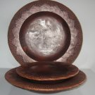 #1  3 pc Set Decorative Wooden Plates