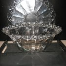 #8  Large Imperial Glass Serving Bowl WithTray