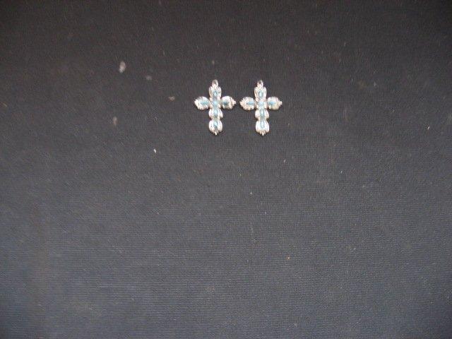 #6  Native American Turquoise Cross Earings