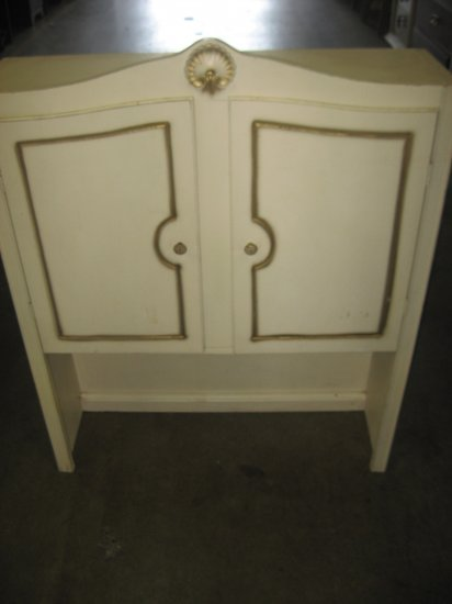#1  White Dresser Hutch Tops with Two Doors and Shelf