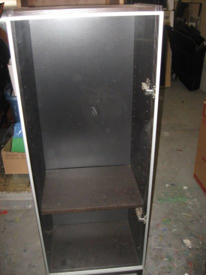 #3  Ikea Short Billy Bookcase with Glass Door & Two Shelves