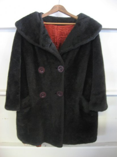 #5  Vintage Faux Fur Brown Short Coat