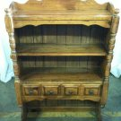 #1  Solid Wood Cabinet Hutch with Drawer