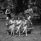 SEXY WOMEN BATHING SUIT UKELELE 20S VINTAGE PHOTO RETRO BEAUTIFUL PRETTY MUSIC UNIQUE GIRL 1920'S