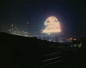 CHICAGO IL TRAIN RAILROAD PBR PABST VINTAGE PHOTO HISTORIC 1940S