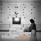 VINTAGE KITCHEN CABINET PHOTO WOMAN RUSSELL LEE 1939