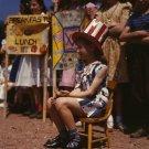 LITTLE GIRL AT POLISH ITALIAN FESTIVAL CHILD PHOTO VINTAGE RETRO 1940S