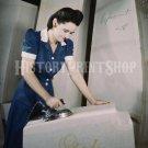 1941 WOMAN WORKER PHOTO ROSIE RIVETER WWII GOODYEAR GAS