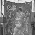 DOLLY DIMPLES FAT LADY SIDE SHOW FREAK VINTAGE PHOTO CARNIVAL SIGN FL