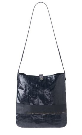 Marc Jacobs Laminated Cotton DENIM stripe bag