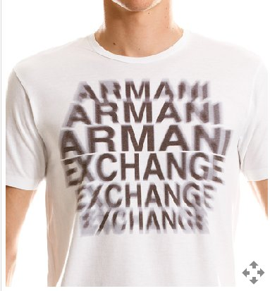 ARMANI EXCHANGE Echo White T Shirt size Large