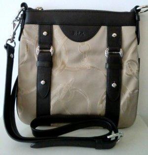 Ralph Lauren Leather Crossbody Martingale Bag purse Brown & Beige
