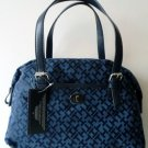 Tommy Hilfiger Bowler Satchel Handbag Speedy Navy Blue