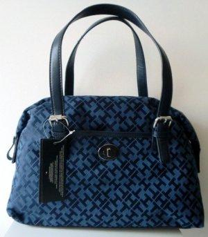 Tommy Hilfiger Bowler Satchel Handbag Speedy Navy Blue