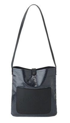 Marc by Marc Jacobs Denim Laminated Cotton Satchel Crossbody