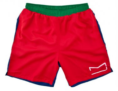 Marc by Marc Jacobs Red Blue Color block swimming trunks bathing swim suit board shorts medium