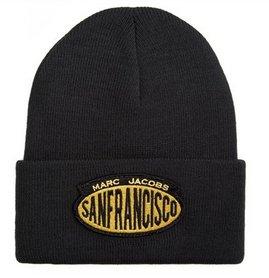 MARC JACOBS Acrylic Ski Winter Hat Skully Beanie Hat SAN FRANCISCO