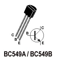 50pcs - BC549 NPN Transistors (BC 549 BC549A BC549B)