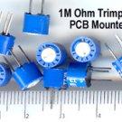 10pcs- 1M Ohm trimpot -PCB Mount Horizontal Adj. (1 M)