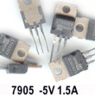 10pcs - L7905 -5V 1A NEGETIVE REGULATOR (LM7905 L 7905)