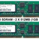 2 X 512MB PC3200 400MHZ DDR RAM KIT 184pin (1GB total)