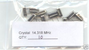 10pcs - 14.318MHz CRYSTALS (14.318 MHz) - Bargain!