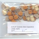 25pcs - 0.01uF Ceramic Disk Capacitors ( 103K - 10nF )