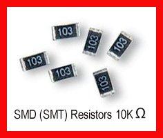 50pcs - 10K Ohm SMD Resistor 0805 1/8W 5% (10000 K SMT)